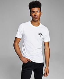 Men's Palm Trees Striped T-Shirt