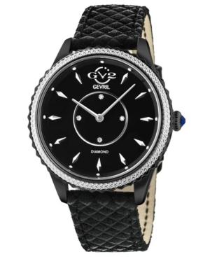 Women's Siena Swiss Quartz Black Italian Leather Strap Watch 38mm