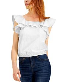 Ruffled Crinkle Top, Created for Macy's