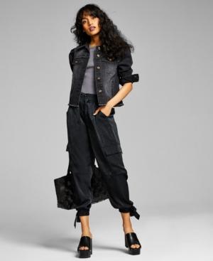 Women's Puff-Sleeve Denim Jacket