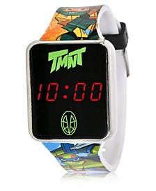Teenage Mutant Ninja Turtles Kid's Touch Screen Black Silicone Strap LED Watch, 36mm x 33 mm