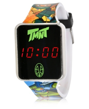 Teenage Mutant Ninja Turtles Kid's Touch Screen Black Silicone Strap Led Watch
