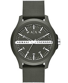 Men's Green Silicone Strap Watch 46mm
