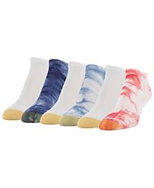 Women's American Tie Dye 6pk Liner Socks