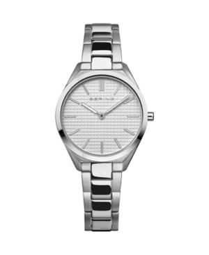 Women's Ultra Slim Silver-Tone Stainless Steel Bracelet Watch 31mm
