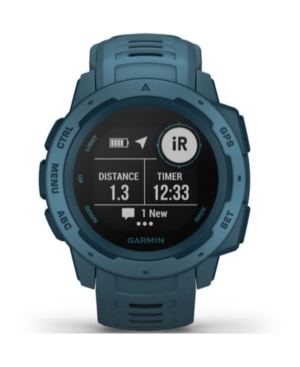 Unisex Instinct Lakeside Blue Silicone Strap Smart Watch 23mm