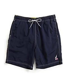 "Men's 8"" American Flag Logo J-Class Swim Shorts"