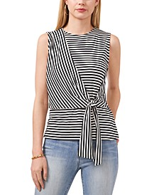 Striped Side-Tie Top