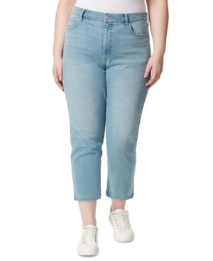 Trendy Plus Size Ripped Ankle Jeans