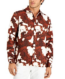 Men's Cowhide Print Shirt, Created for Macy's