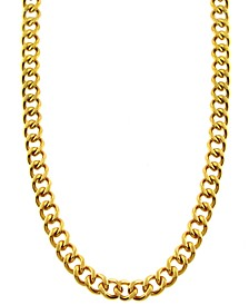 """Curb Link 24"""" Chain Necklace in Gold-Tone Ion-Plated Stainless Steel"""