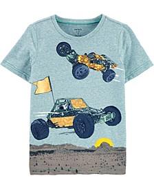 Big Boys Race Car Knit T-shirt
