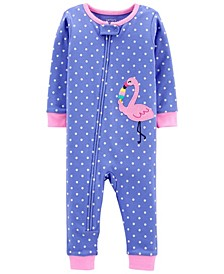 Baby Girls Snug Fit Cotton Footed Pajama