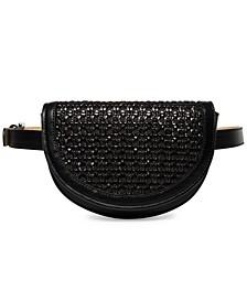 Woven Flap Belt Bag