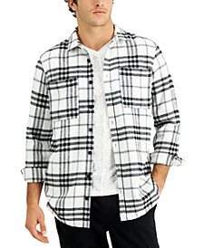 Men's Regular-Fit Yarn-Dyed Plaid Shirt, Created for Macy's