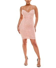 Ruched Lace Bodycon Dress