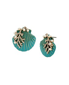 Seashell Button Earrings