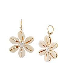Puka Shell Flower Drop Earrings