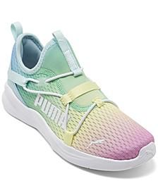 Little Girls Rainbow Rift Slip-On Running Sneakers from Finish Line