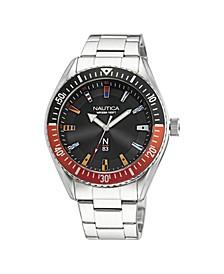 Men's N83 Analog Silver-Tone Stainless Steel Bracelet Watch 44 mm