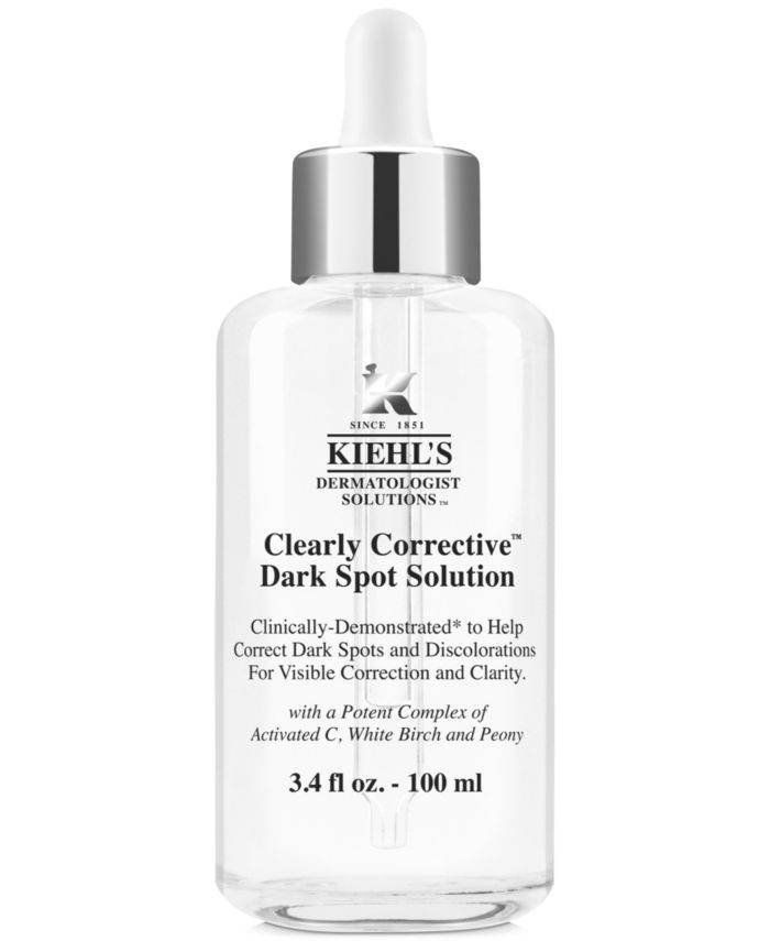 Kiehl's Since 1851 Dermatologist Solutions Clearly Corrective Dark Spot Solution, 3.4-oz. & Reviews - Skin Care - Beauty - Macy's