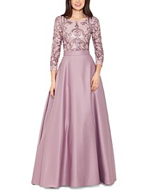 Sequined Top Ball Gown