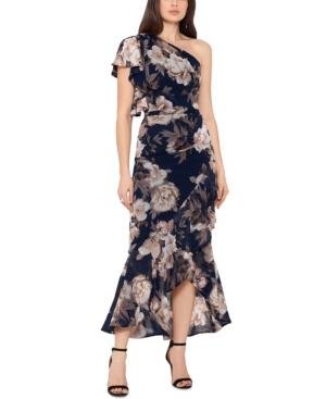 One-Shoulder Floral Midi Dress
