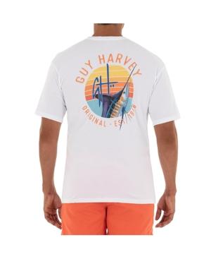 Men's Sunset Short Sleeve Pocket Crew Neck T-Shirt