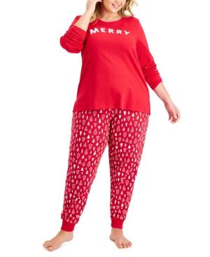 Women's Plus Merry Pajama Set