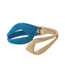 Patina Leaf Bypass Bangle Bracelet