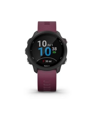 Unisex Forerunner 245 Berry Silicone Strap Smart Watch 30.4mm