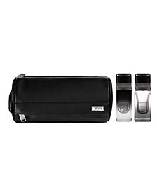 Men's Awaken Unwind Eau De Parfum Travel Spray's 2.5 oz and Dopp Kit Set