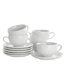 Clancy Cup and Saucer Set of 12 Pieces