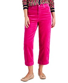 Petite Relaxed Cropped Corduroy Pants, Created for Macy's