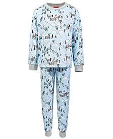 Matching Toddler, Little & Big Kids 2-Pc. Ski Mountain Family Pajama Set