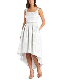 Jacquard High-Low Dress