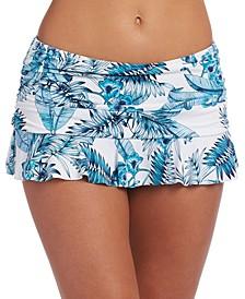 Tranquility Palm Ruffled Swim Skirt