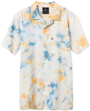 Men's Rafe Short Sleeve Tie Dye Camp Shirt