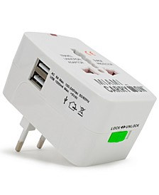 International Travel Adapter with Two USB Ports
