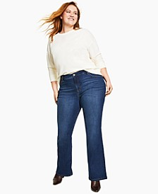 High-Rise Boot-Cut Jeans, Created for Macy's