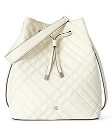 Debby Plaid Quilted Drawstring Bag