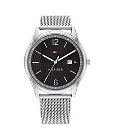 Men's Stainless Steel Mesh Bracelet Watch 42mm