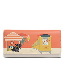 All Aboard Large Leather Wallet