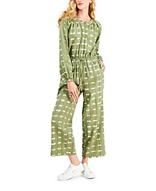 Petite Textured Jumpsuit, Created for Macy's