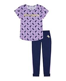 Big Girls Unicorn Long Leg Pajama, 2 Piece Set