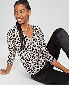 Cashmere Cheetah Sweater, Created for Macy's