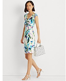 Paisley Pleated Jersey Dress