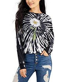 Tie-Dyed Daisy Cropped Graphic Top