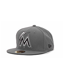New Era Miami Marlins MLB Gray BW 59FIFTY Cap