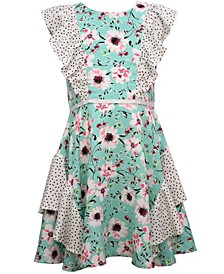 Big Girls Floral Challis Dress